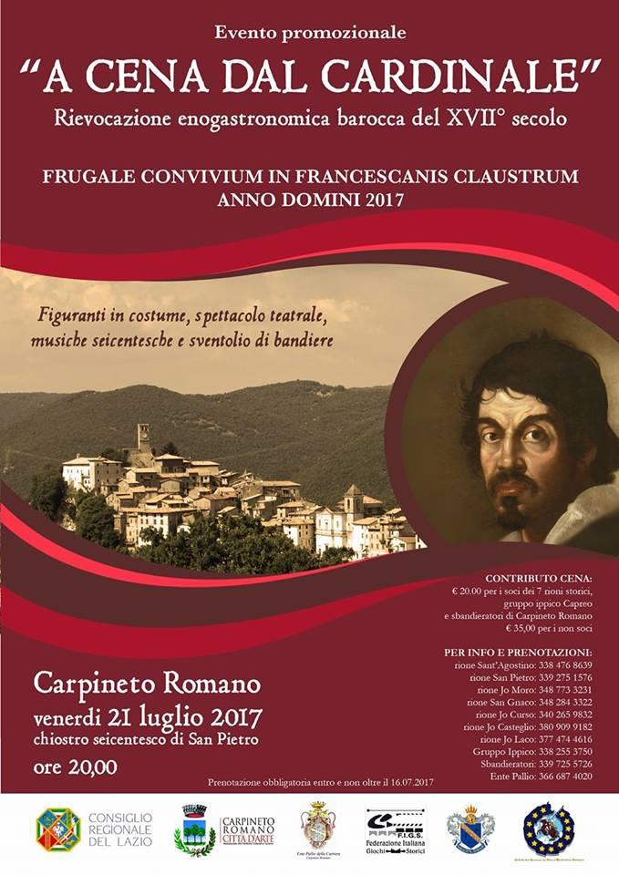 A cena dal Cardinale Carpineto Romano