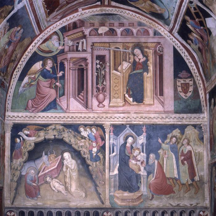 Fig.11: Cori. Oratorio della SS. Annunziata, veduta dell'interno. (Foto M. Necci).