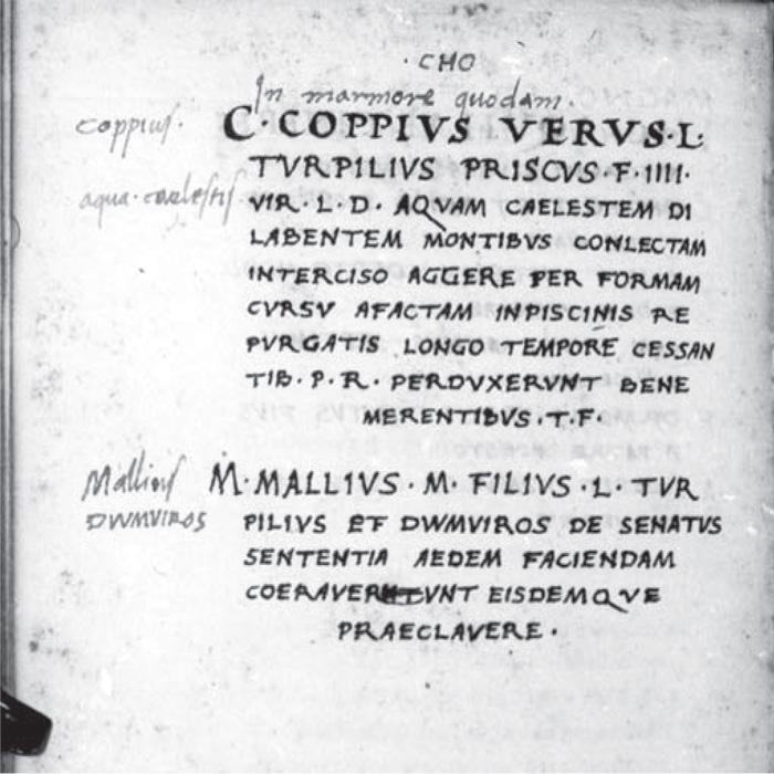 Fig.-8 : Alessandro Strozzi iscrizioni di-Cora, 1474.