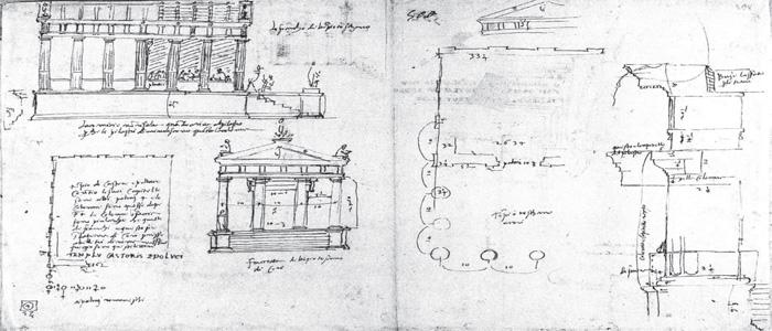 Fig.9 : Antonio da Sangallo il Giovane, il tempio dei Dioscuri.
