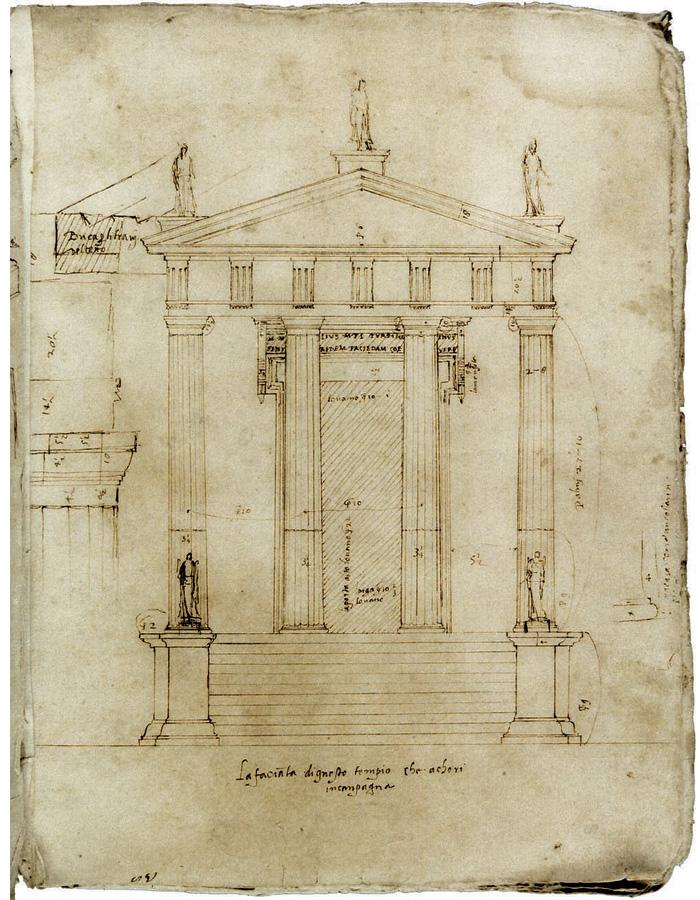 Giovanni Battista da Sangallo, Prospetto del tempio dorico.