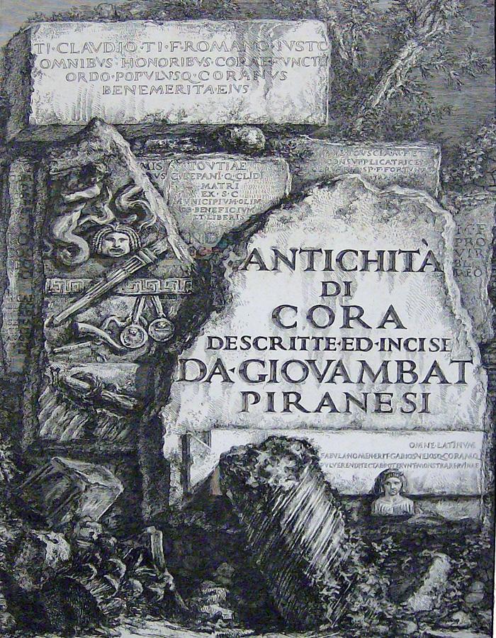 Giovanni Battista, Antichità di Cora.