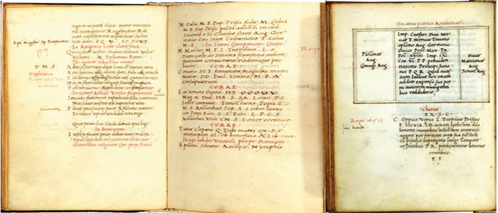 Fig.7 : Fra' Giovanni Giocondo da Verona, iscrizioni latine di Cori