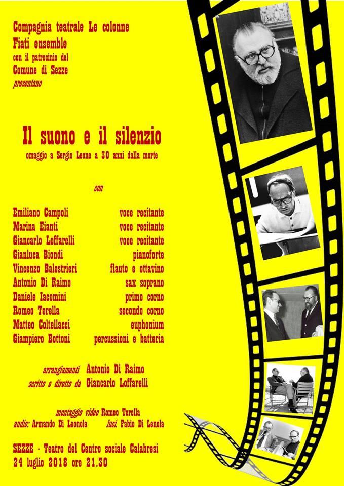 Sezze: Il suono e il silenzio, omaggio a Sergio Leone @ Teatro del Centro sociale U.Calabresi | Sezze | Lazio | Italia