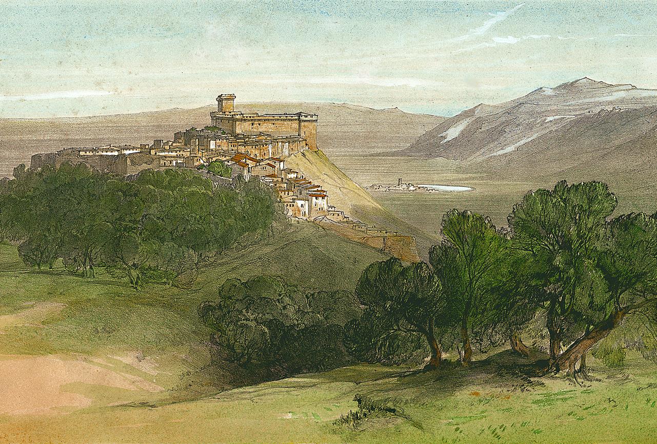 1 –  Edward Lear, Sermoneta, 1841 (Archivio di Stato di Latina).