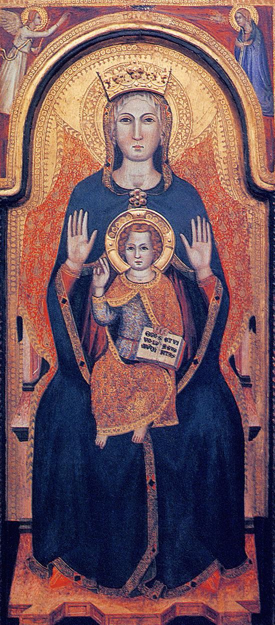 15 – Priverno, Chiesa concattedrale di S. Maria: icona della Madonna di Mezzagosto, sec. XIV-XV (Fototeca dell'Ufficio Beni Culturali Ecclesiastici della Diocesi di Latina-Terracina-Sezze-Priverno).