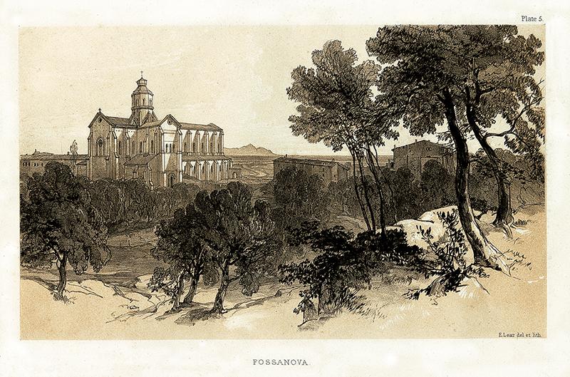 19 – Edward Lear, Fossanova,1841 (Archivio di Stato di Latina)