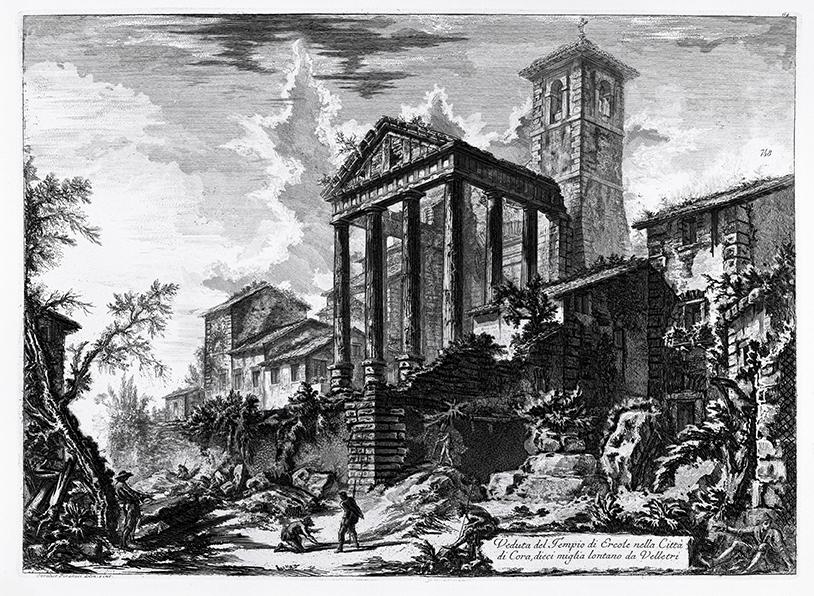 6 – Giovanni Battista Piranesi, Cori: Tempio di Ercole, 1764 (coll. privata).
