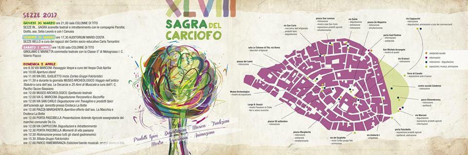 Il programma della giornata del 2 Aprile - Sagra del carciofo a Sezze