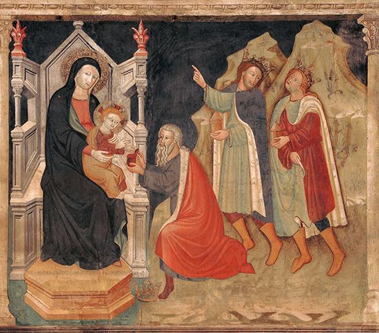 """ill.3 : Oratorio dell'Annunziata, """"Annunciazione, Adorazione dei pastori e Adorazione dei Magi""""."""