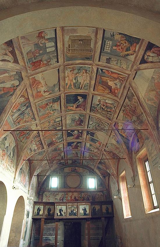 ill. 12 : Cappella del Crocefisso, la volta.