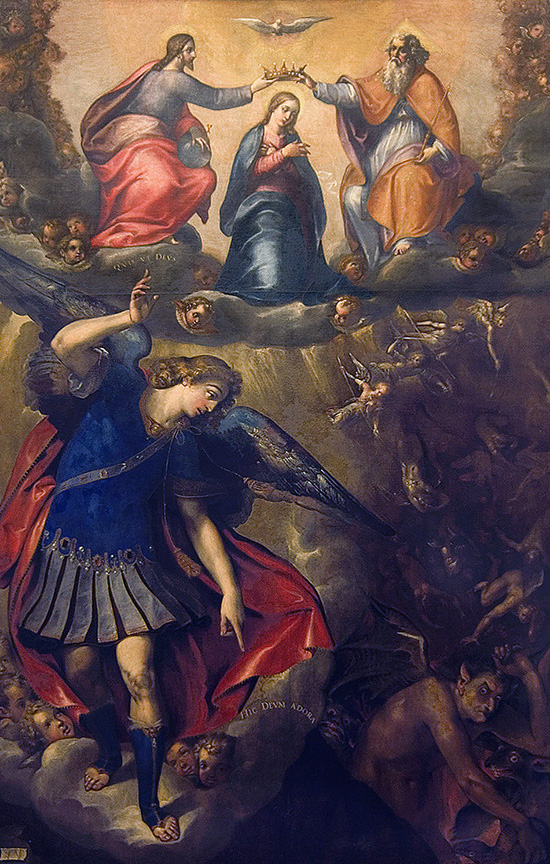 ill. 8 : Frans Van de Kasteele detto Francesco da Castello, 1595, San Michele scaccia i demoni, olio su tela.