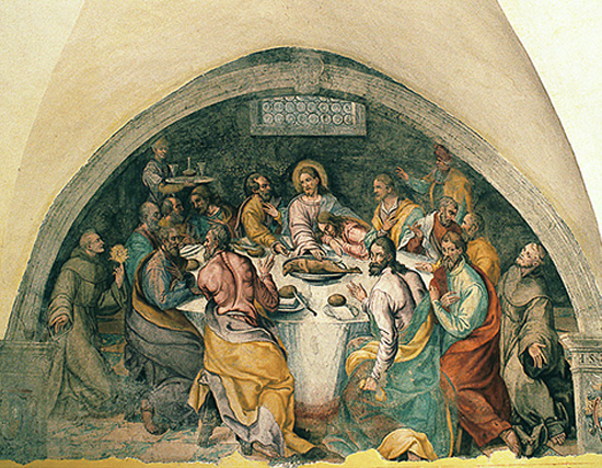 ill. 12 : Convento di San Francesco, Litardo Piccioli (attr.), 1582, Ultima cena, affresco.