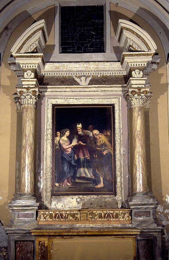"""ill.7 : Chiesa di Santa Maria della Pietà, """"Lo sposalizio della Vergine""""."""