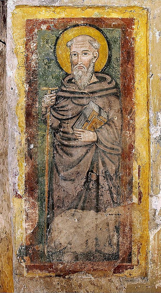 ill.2 : Affresco raffigurante Sant'Antonio Abate.