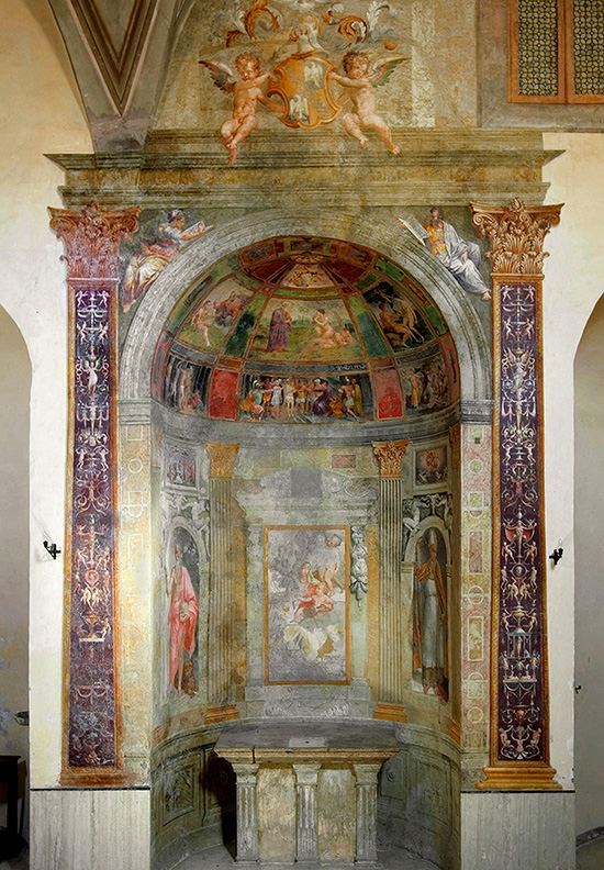 ill.2 : Chiesa di San Giuseppe, Girolamo Siciolante, ciclo di affreschi.