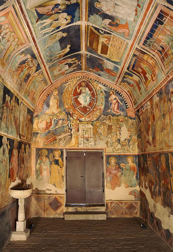 """ill.4 : Oratorio dell'Annunziata, il """"Giudizio Universale""""."""