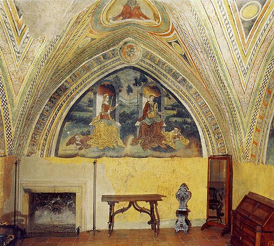 ill.10 : Castello Caetani, Desiderio da Subiaco (attr.), fine sec. XV, Camere Pinte, affresco.