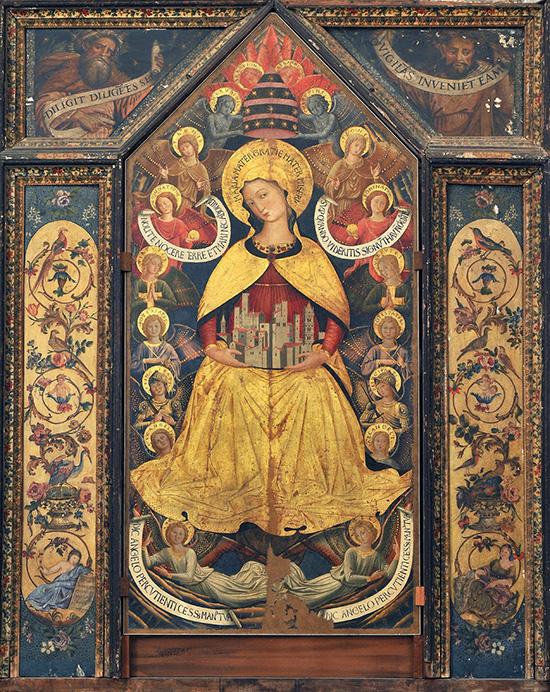 ill. 4 : Collegiata S. Maria Assunta, Benozzo Gozzoli, 1456, Madonna degli Angeli, olio su tavola.