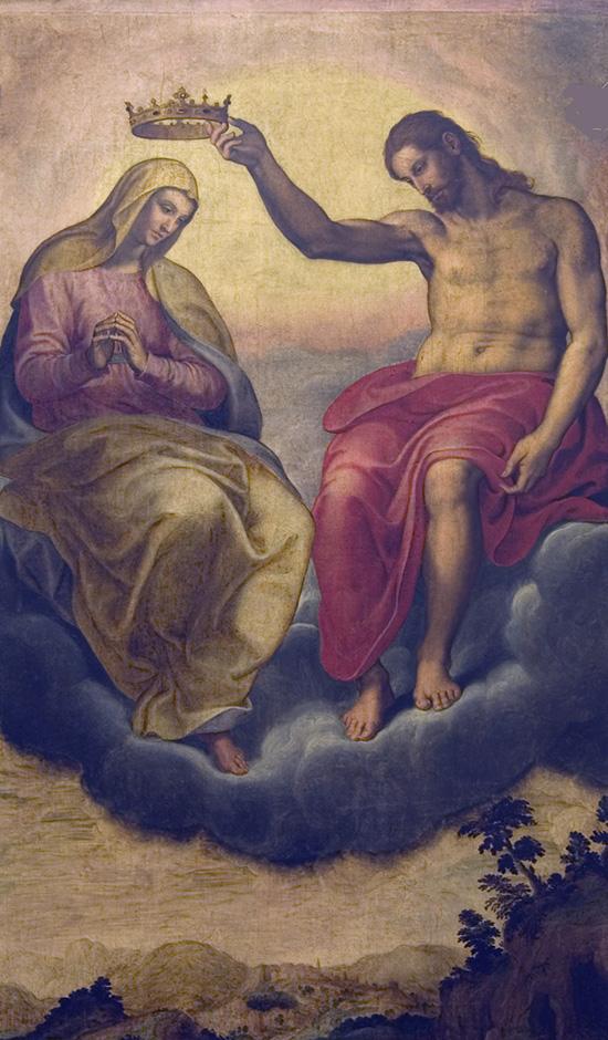 ill. 7 : Girolamo Siciolante, 1567-1570 ca., Incoronazione della Vergine, olio su tavola.