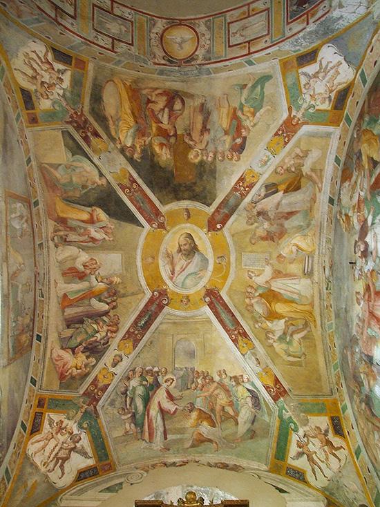 ill.5 : Abbazia di Valvisciolo, Niccolò Circignani detto il Pomarancio (1589), Ciclo di affreschi della cappella di S. Lorenzo.