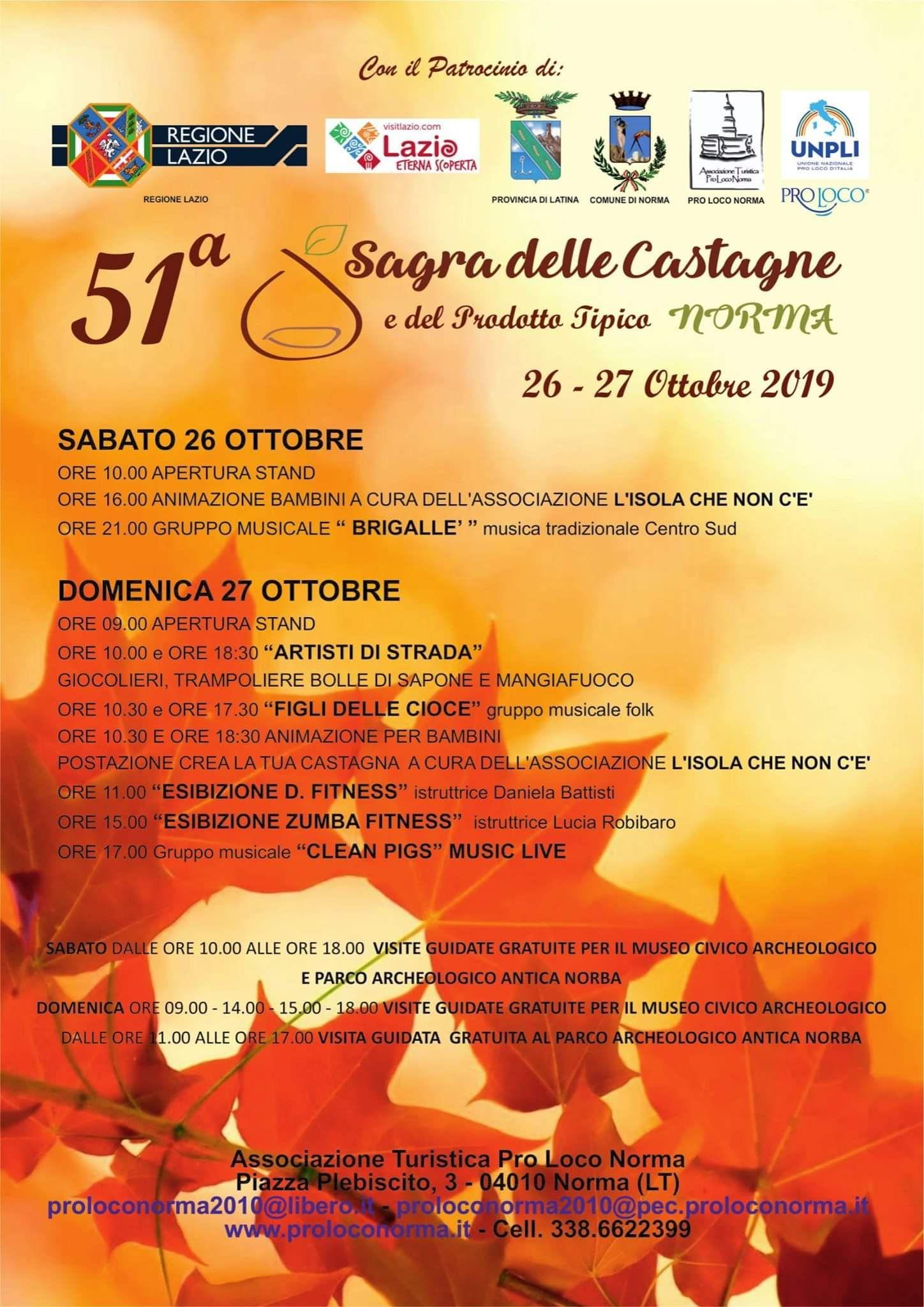 Norma: 51° Sagra delle castagne @ per le vie del paese | Norma | Lazio | Italia