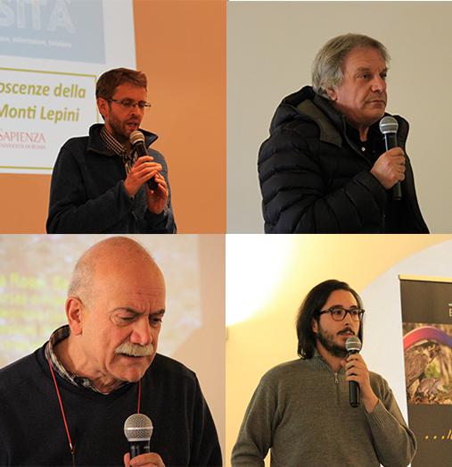 il Dott. Riccardo Copiz, Marco Mattoccia, Sergio Zerunian, Dino Biancolini