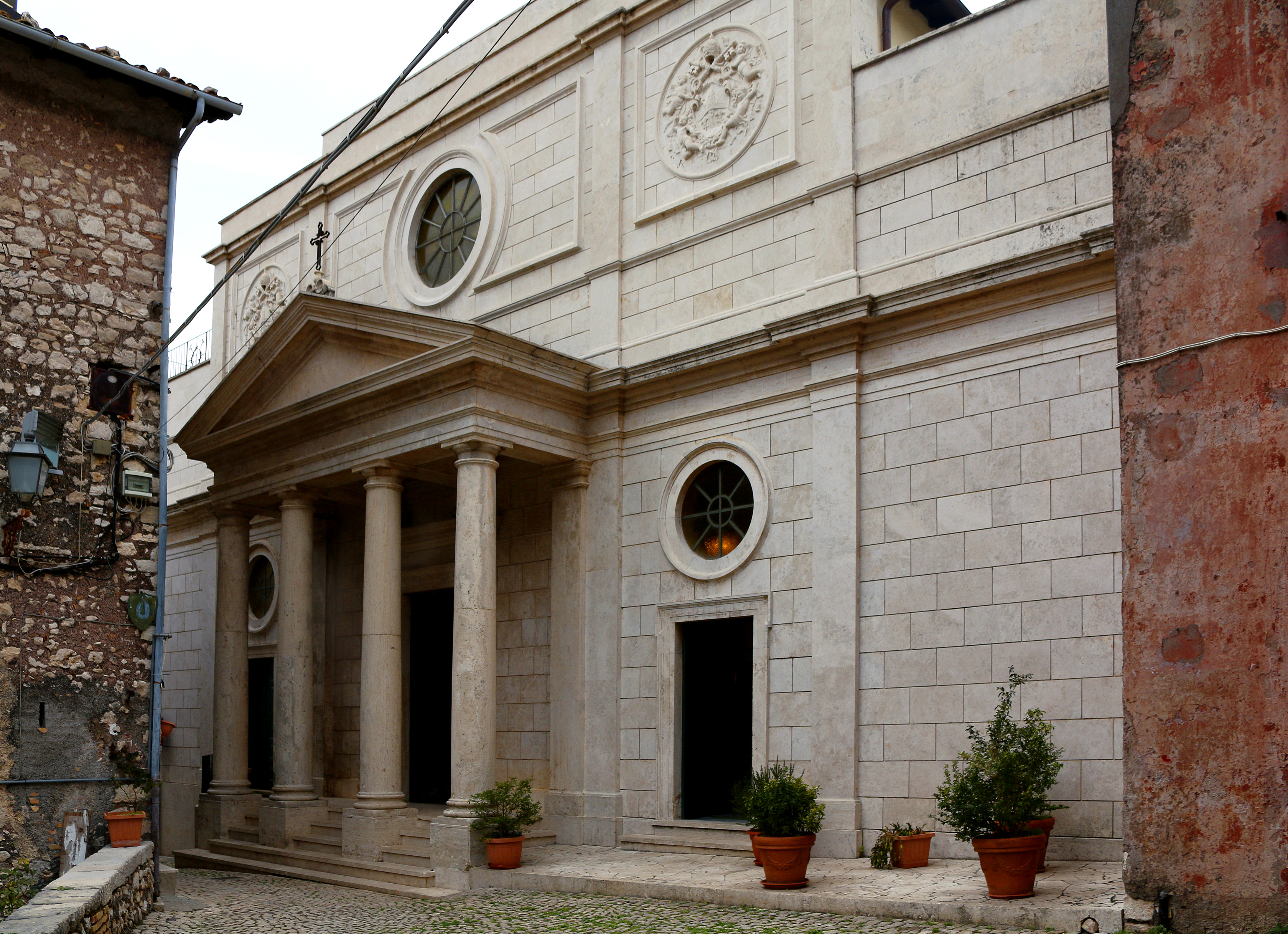 ill. 12 : Francesco Fontana (1882), Chiesa di S. Leone Magno, facciata