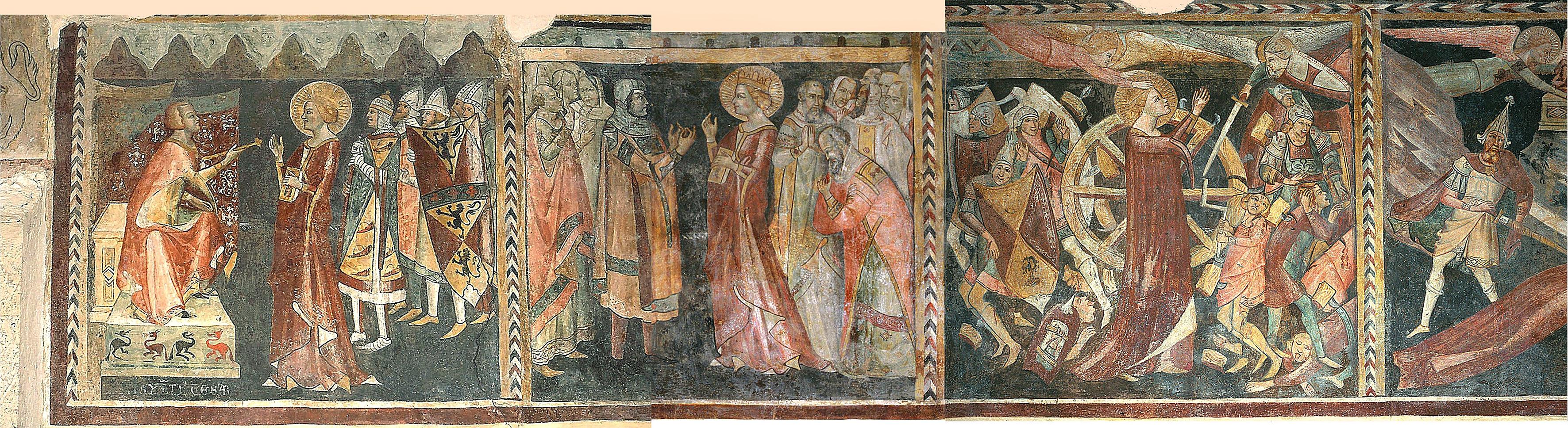 ill. 13: Scuola napoletana (attr.), secc. XIII-XIV, Ciclo di Santa Caterina d'Alessandria, affresco