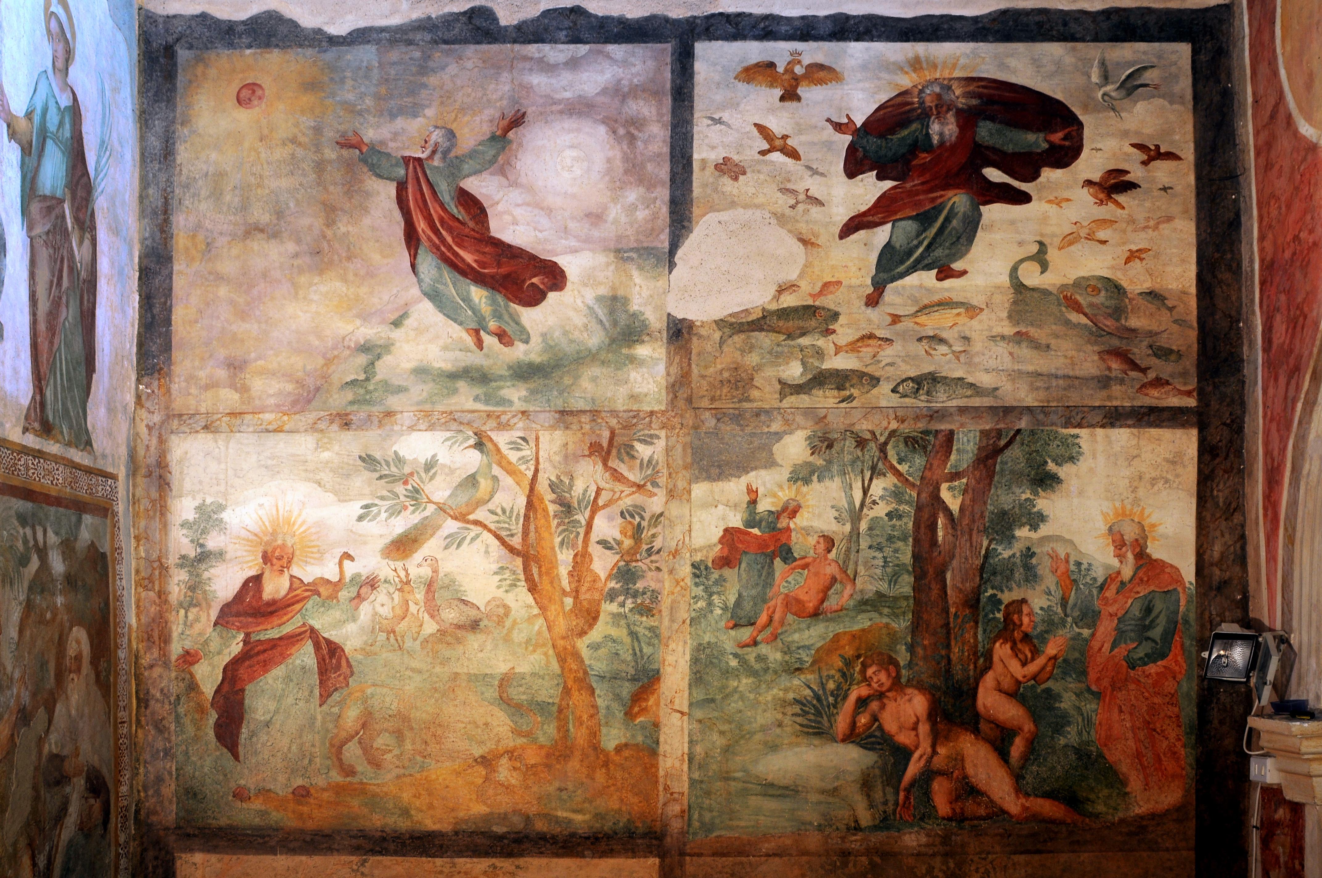 ill.16: Chiesa di S. Lucia, dipinto Genesi
