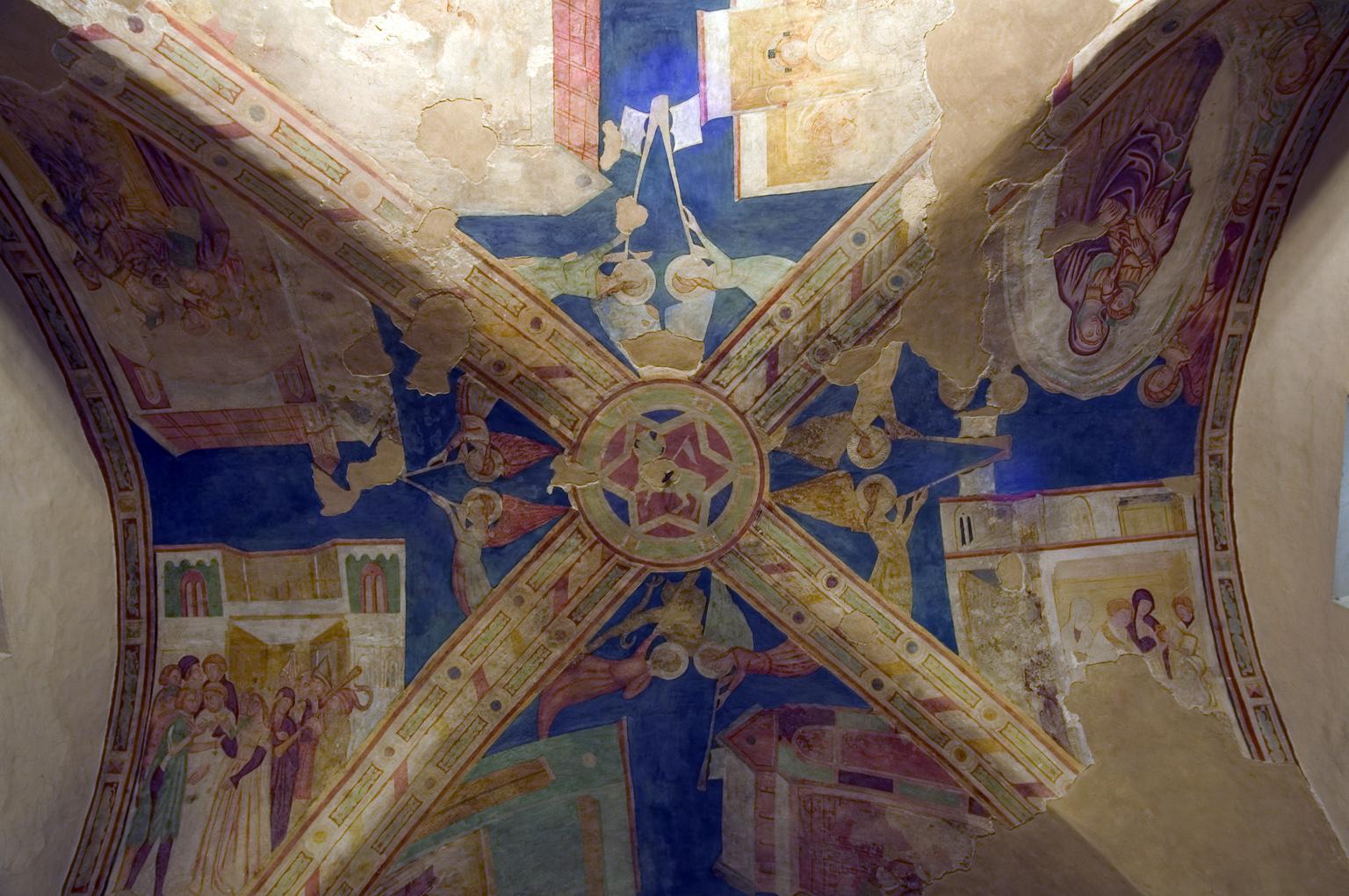 ill.20: Scuola di P. Coleberti, sec. XV, Ciclo dei Sacramenti e la Vergine in Gloria, affresco