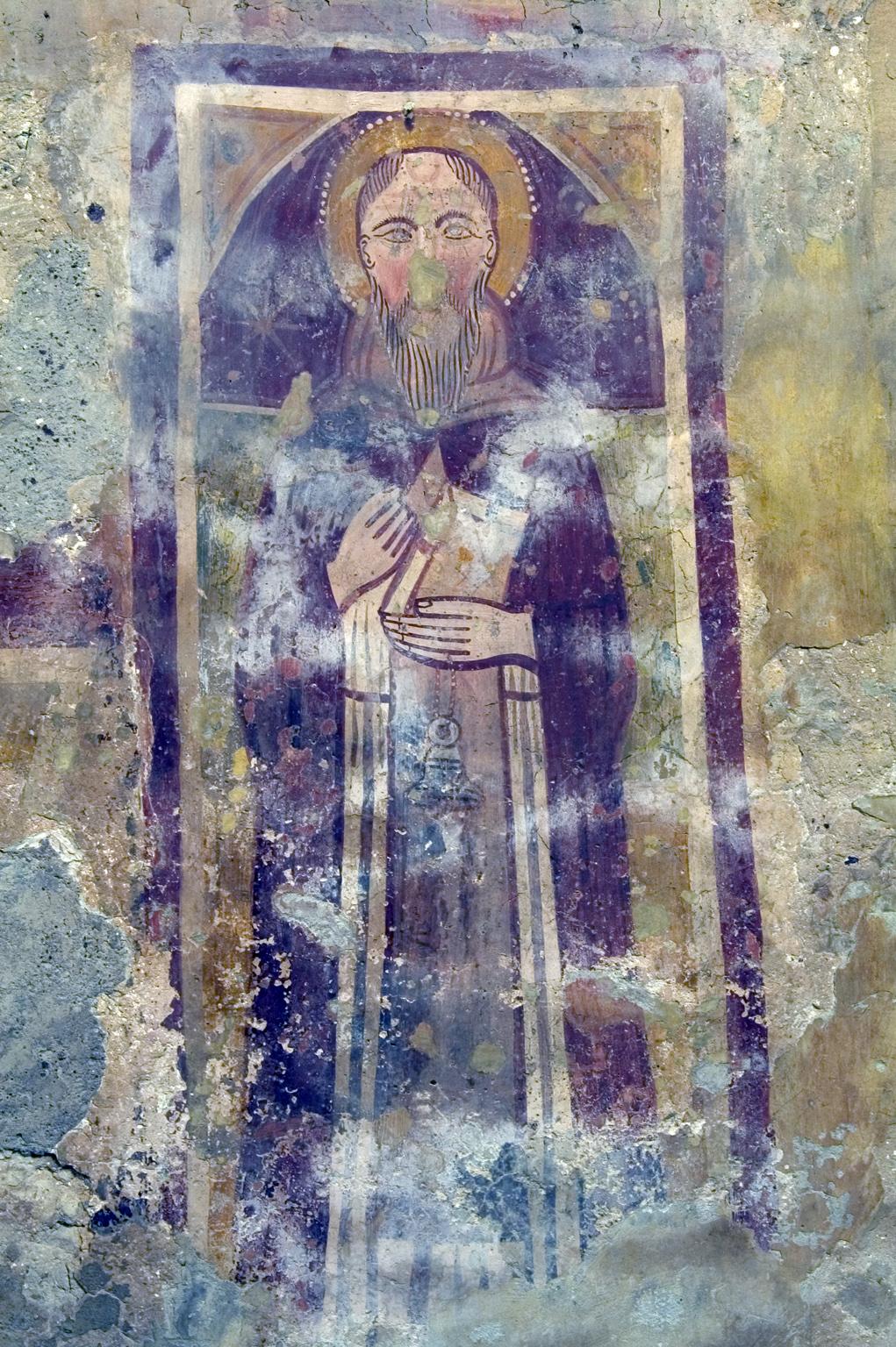 ill.21: Scuola privernate, sec. XIV, Sant'Antonio abate, affresco