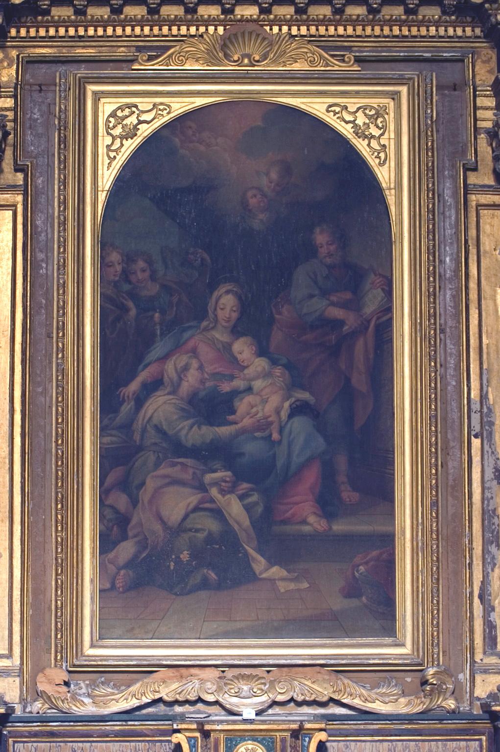 ill.21: pala raffigurante Sant'Anna con San Giuseppe, Maria e Gesù Bambino