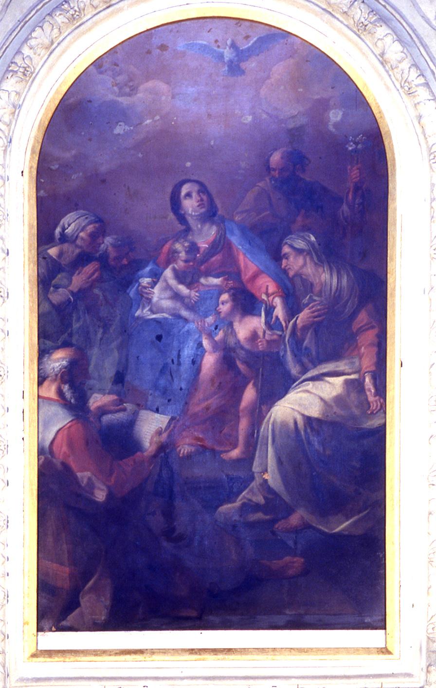 ill.30: pala è dedicata alla S. Famiglia con i S.S. Giovanni Battista, Gioacchino, Anna, Zaccaria ed Elisabetta