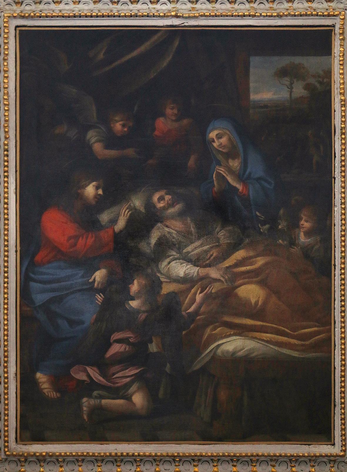 ill. 5: Scuola Romana (sec. XVII), La morte di San Giuseppe