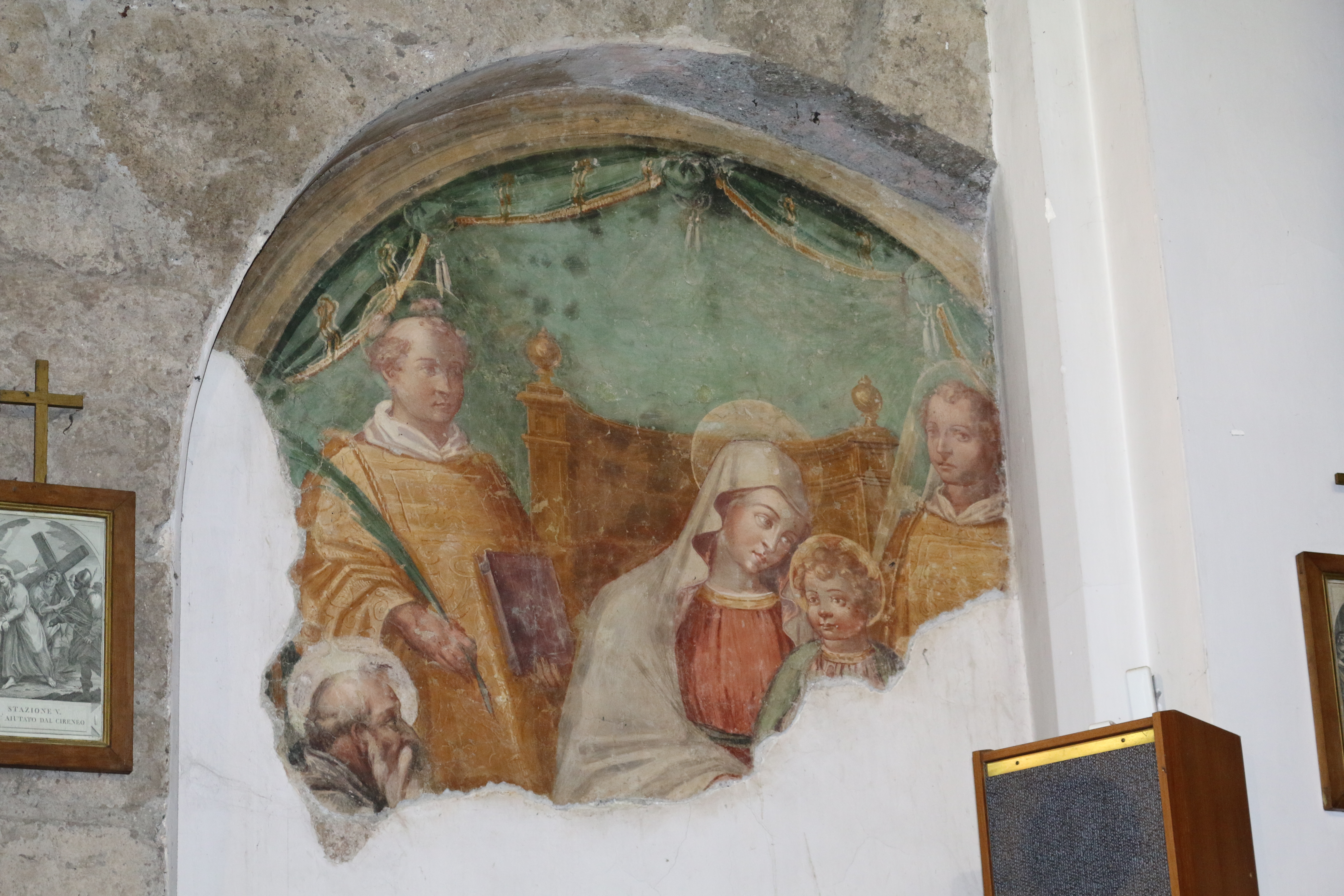 ill. 7: Autore ignoto (sec. XVI), Madonna con Bambino e Santi Stefano, Lorenzo e Vitaliano