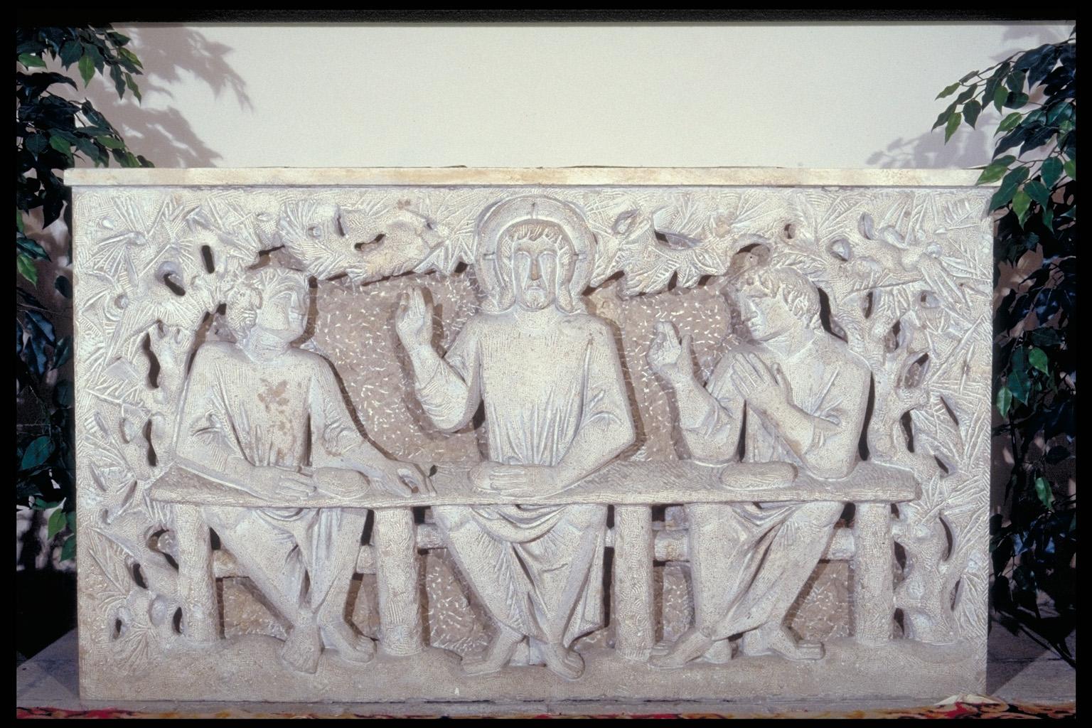 ill.7: Venturini, paliotto marmoreo della Cena di Emmaus