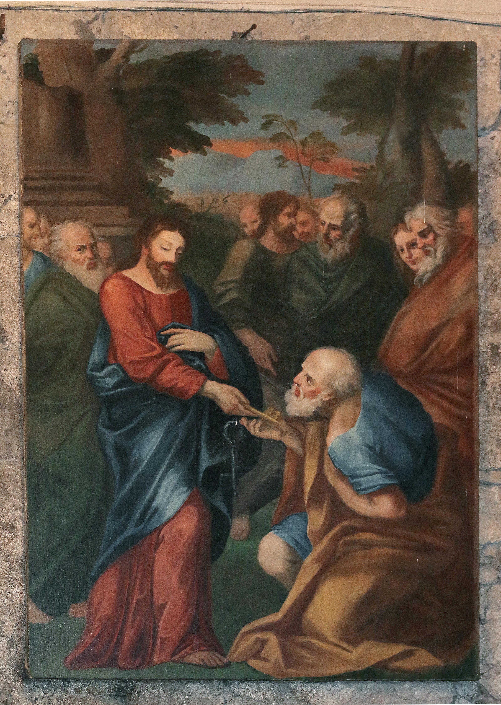 ill. 9: Scuola Romana (sec. XVI), Consegna delle chiavi a San Pietro