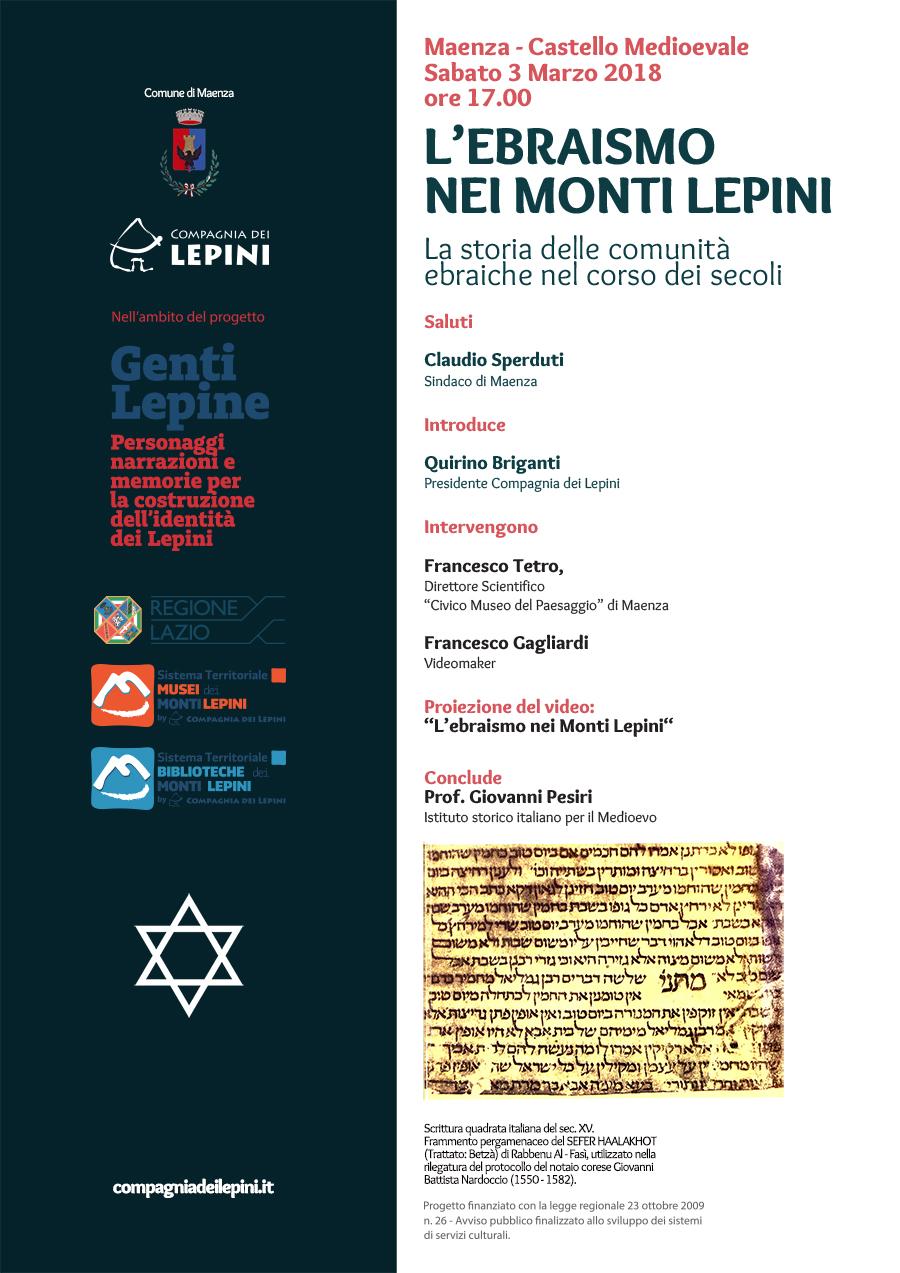 L'ebraismo nei Monti Lepini @ Castello Baronale | Maenza | Lazio | Italia