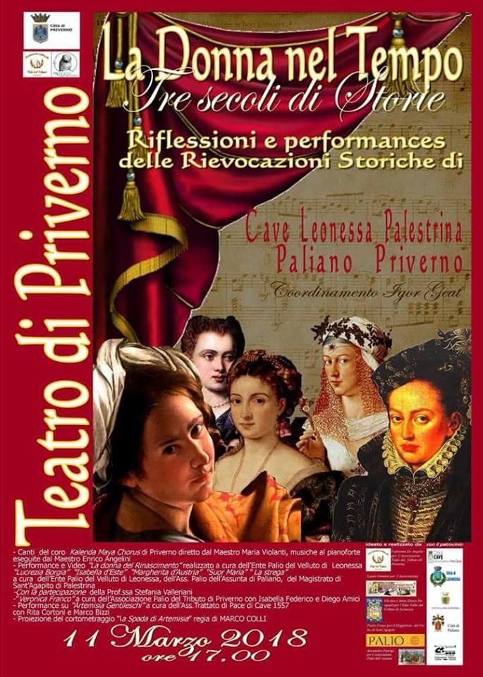 La donna nel tempo: tre secoli di storie @ Teatro di Priverno | Priverno | Lazio | Italia