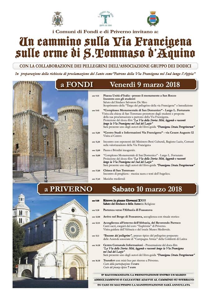 Un cammino sulla Via Francigena @ Piazza Giovanni XXIII | Priverno | Italia