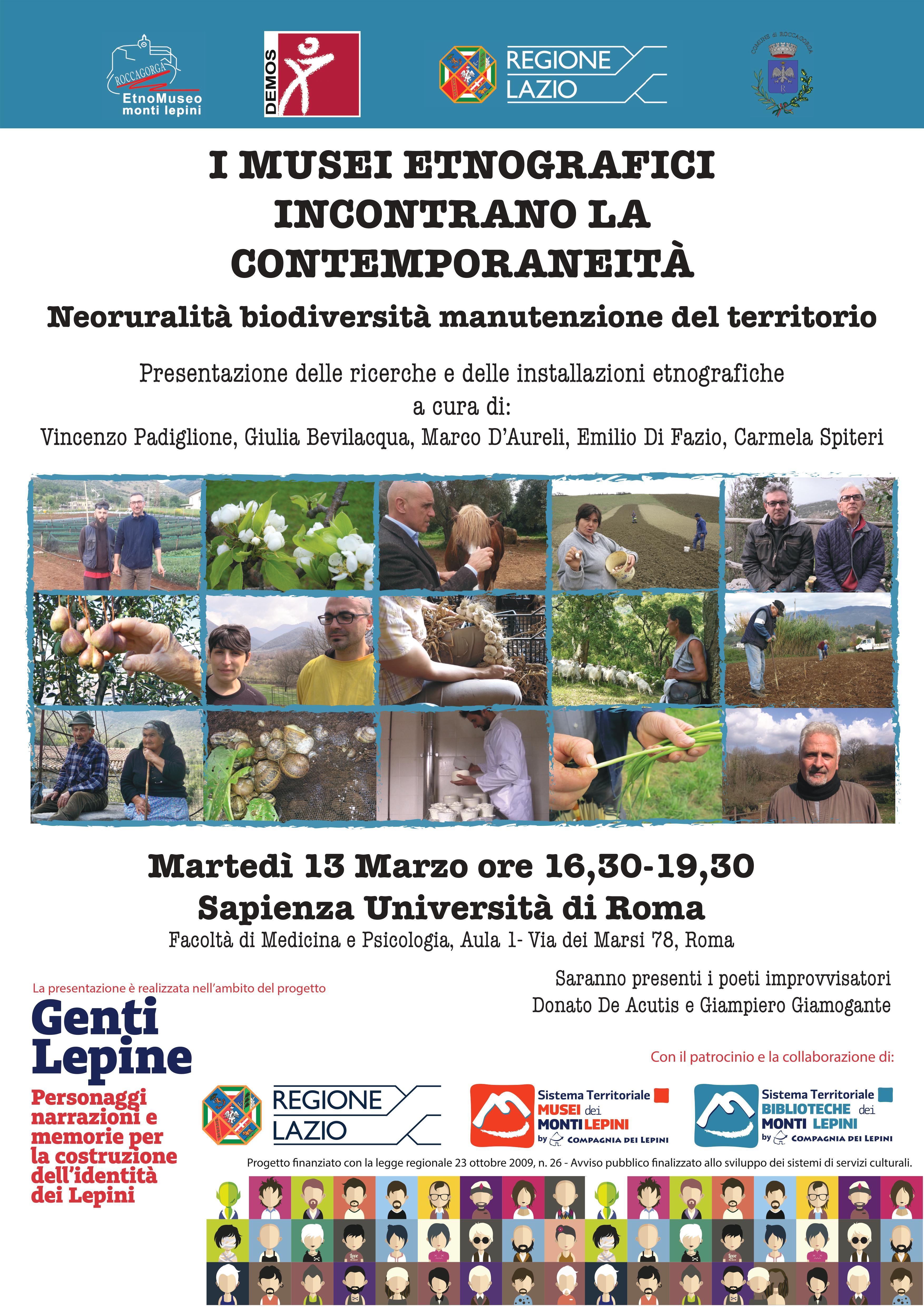 Genti Lepine: Roccagorga @ Sapienza università di Roma, facoltà di Medicina e Psicologia, Aula 1 | Roma | Lazio | Italia