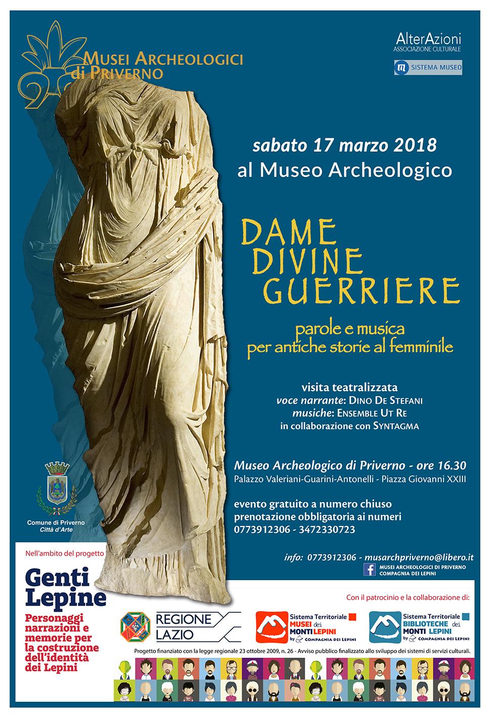 Genti Lepine Priverno: Dame divine guerriere @ Museo Archeologico | Priverno | Lazio | Italia
