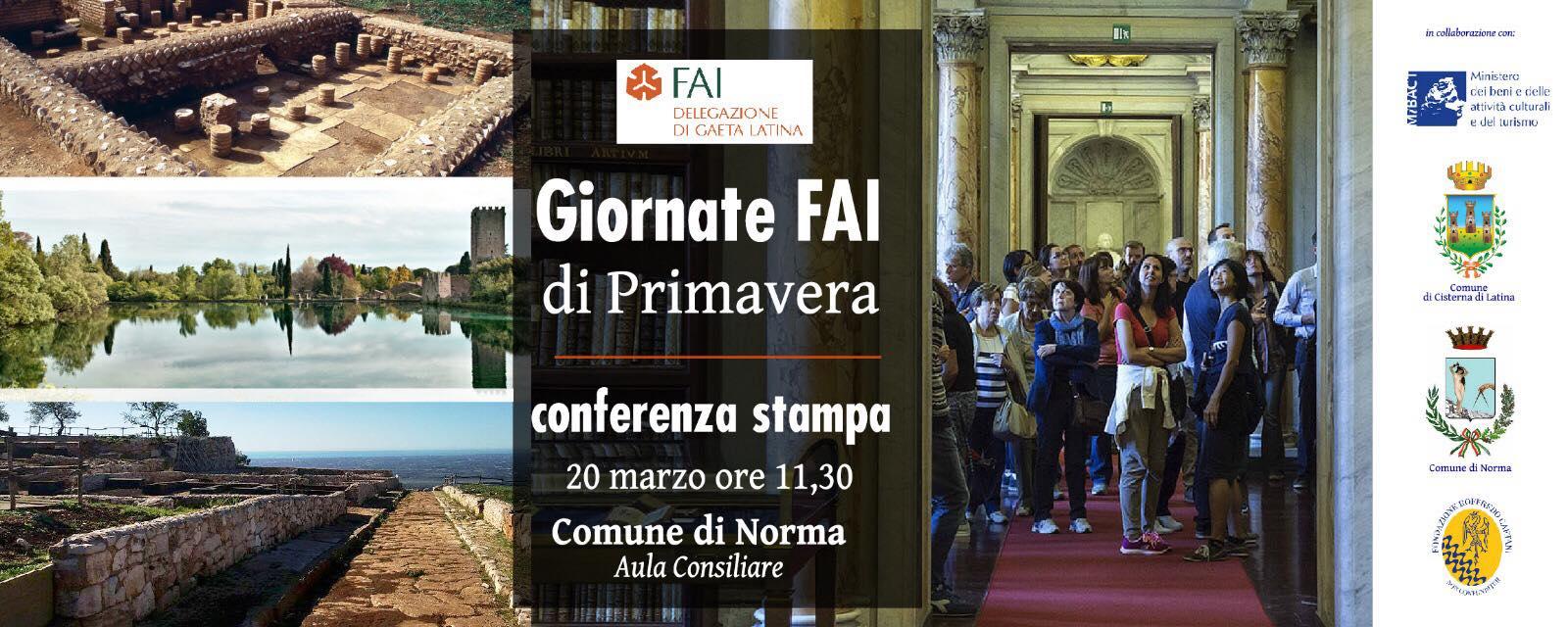 Conferenza stampa: Giornate FAI di Primavera @ Comune di Norma, Aula Consiliare | Norma | Lazio | Italia
