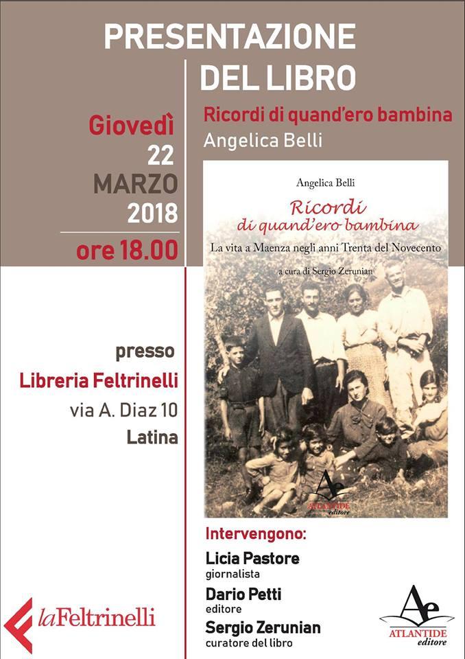 Presentazione libro: Ricordi di quand'ero bambina @ La Feltrinelli  | Latina | Lazio | Italia