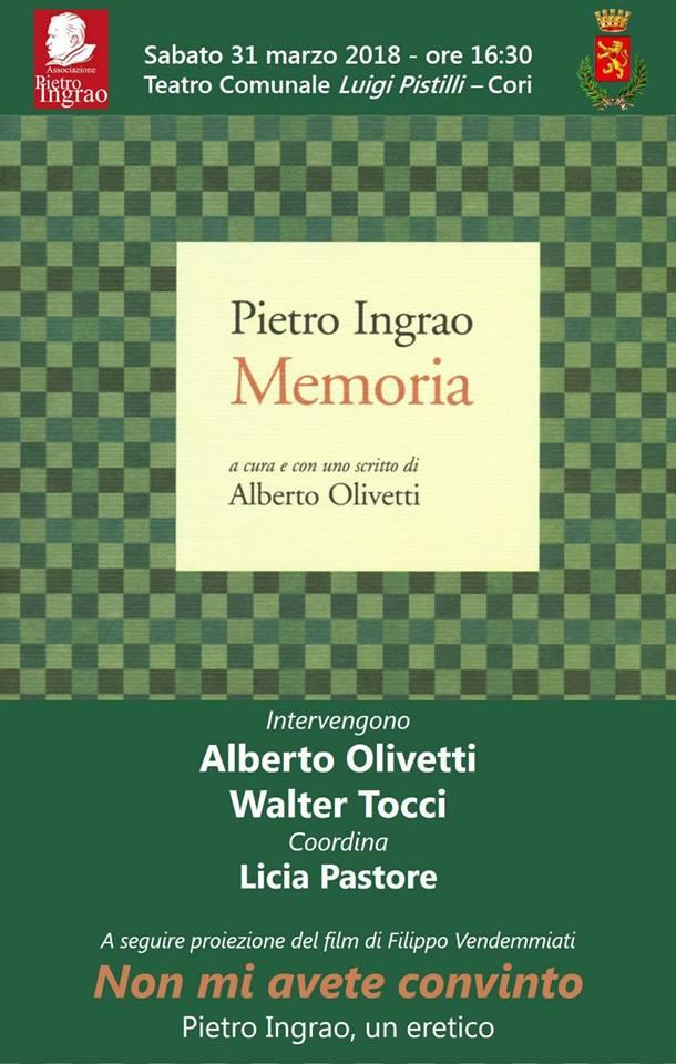 Pietro Ingrao: Memoria @ Teatro Comunale Luigi Pistilli | Cori | Lazio | Italia