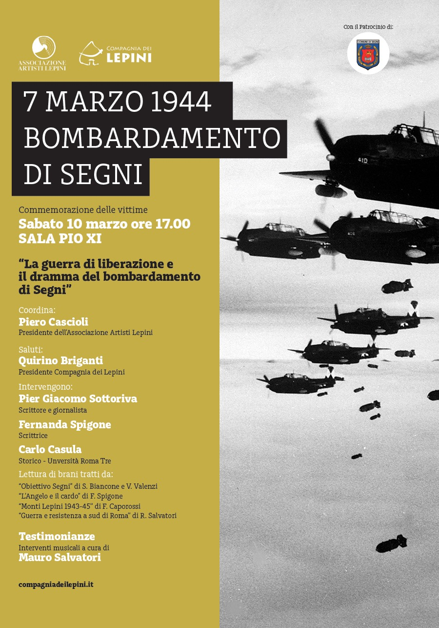 7 Marzo 1944. Bombardamento di segni @ Sala Pio XI - Cattedrale Santa Maria Assunta | Segni | Lazio | Italia