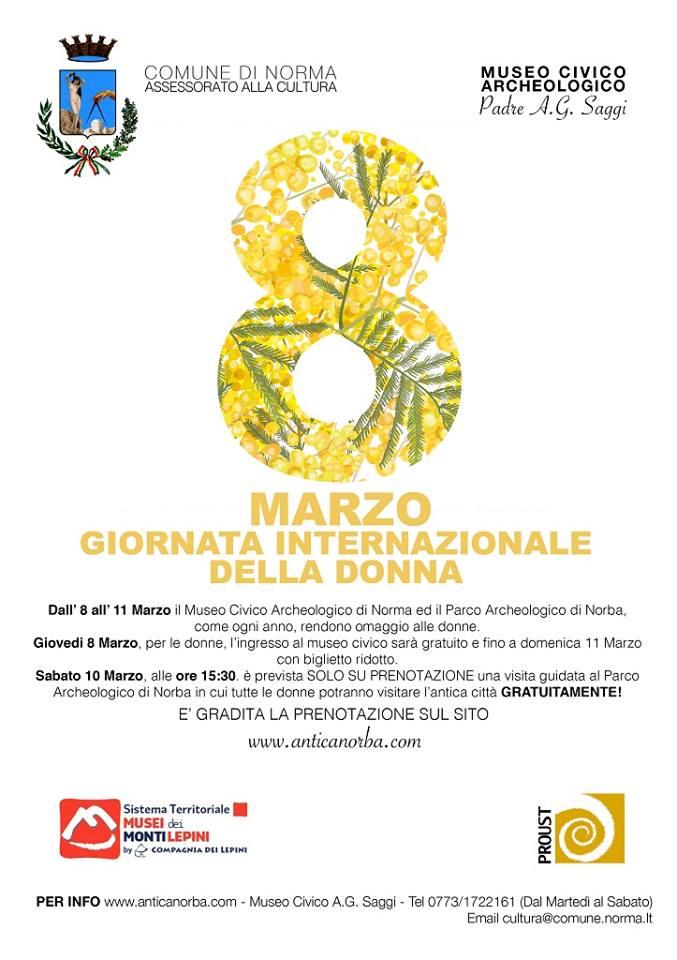 Norma: 8 Marzo, Giornata Internazionale della Donna @ Norma | Norma | Lazio | Italia