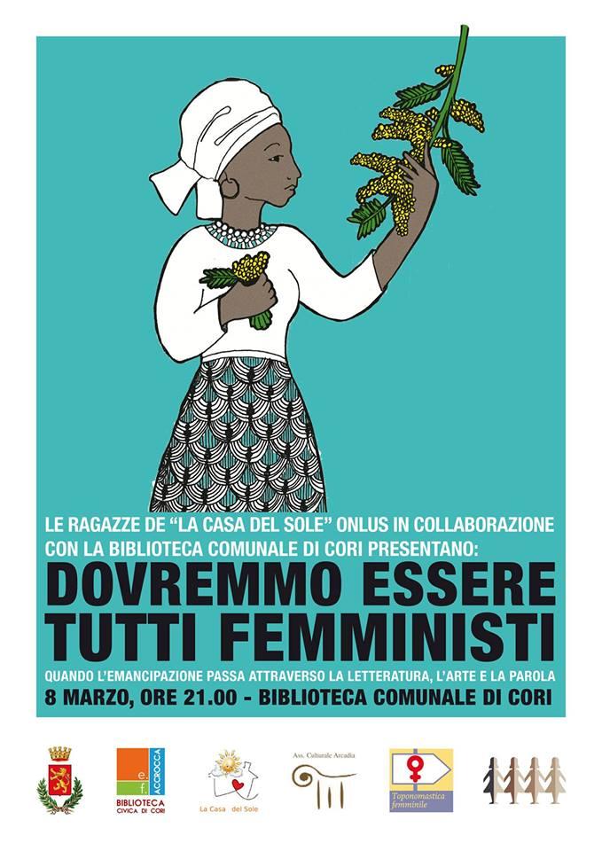 Dovremmo essere tutti femministi @ Biblioteca di Cori | Cori | Lazio | Italia