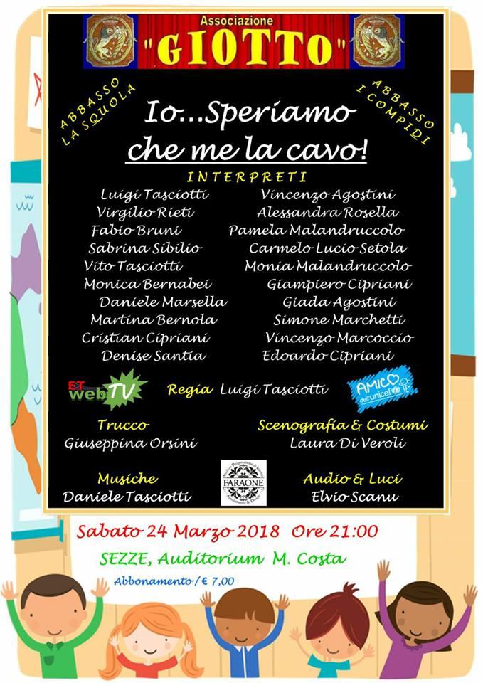 Io...Speriamo che me la cavo @ Auditorium M. Costa | Sezze | Lazio | Italia